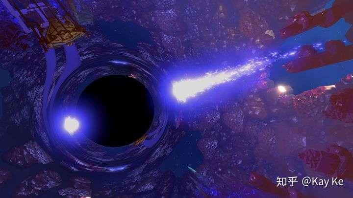 碎空星上的黑洞