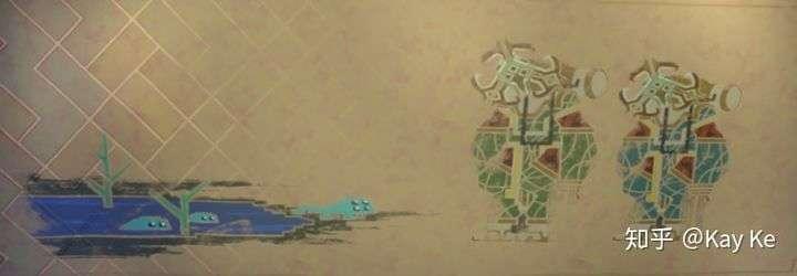 在木炉星采矿时,三眼族发现还是青蛙宝宝?的四眼族,壁画留念。
