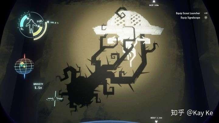 游戏中的壁画:三眼族飞船被困